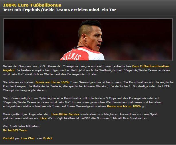 Der Euro-Fußballbonus wurde verbessert - bet365 bonus