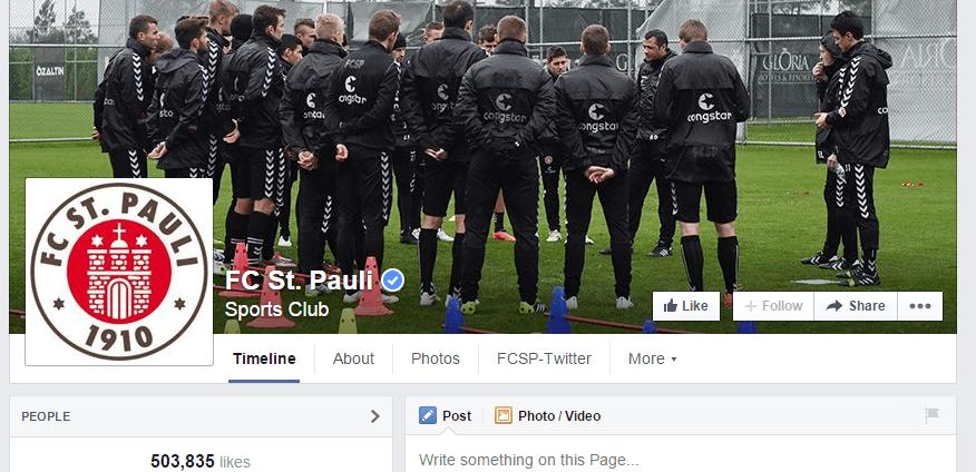 FC St. pauli auf Facebook