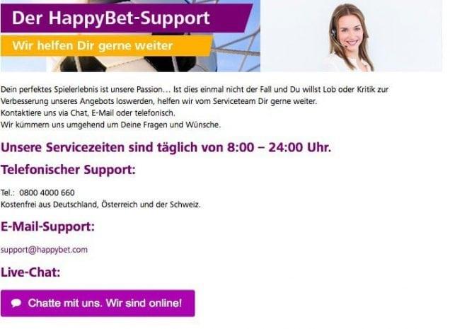 Happybet Support