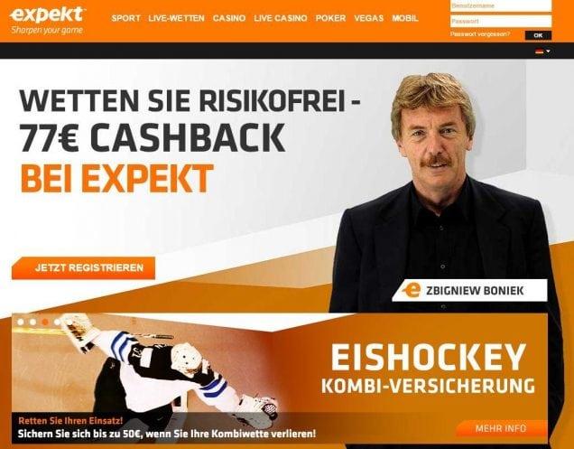 Online SportwettenI Online Casino, Poker und Vegas I Expekt