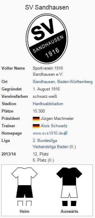 SV Sandhausen – Wikipedia