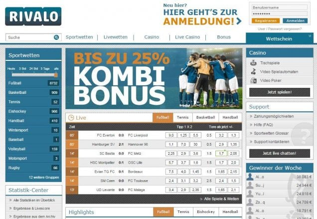 rivalo - website screenshot