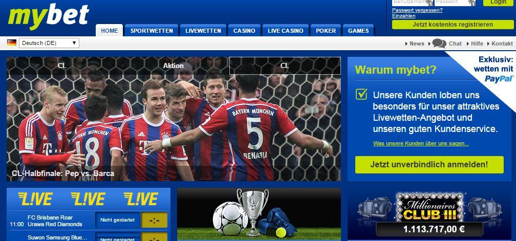 Sportwetten Casino Poker Live Casino I Homepage I mybet