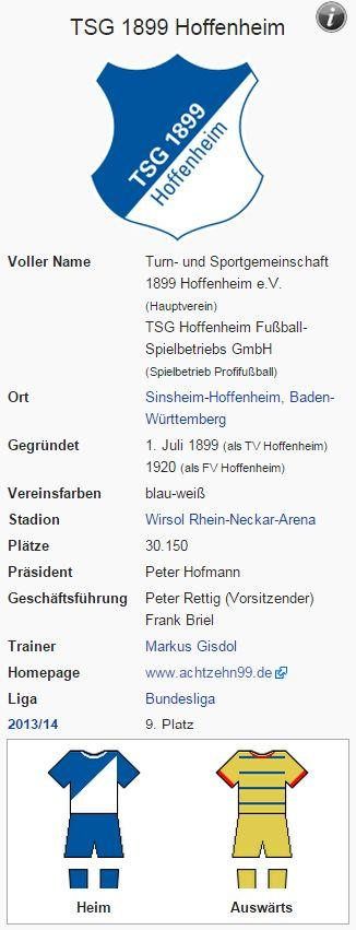 TSG 1899 Hoffenheim – Wikipedia