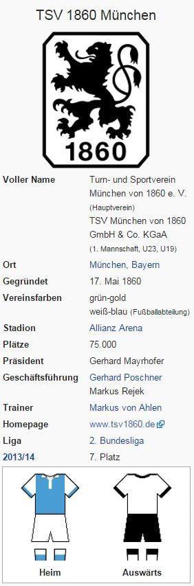 TSV 1860 München – Wikipedia