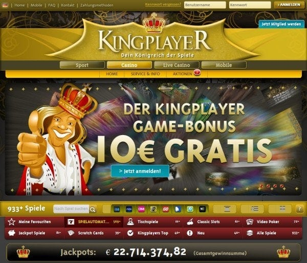 kingplayer - website vorschau