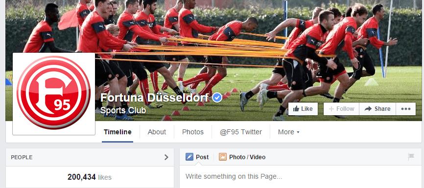 Fortuna Düsseldorf auf FB