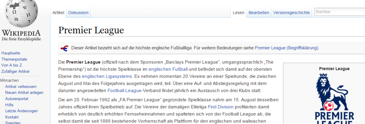 Premier league wikipedia