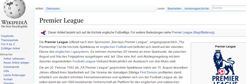 fußball englische liga