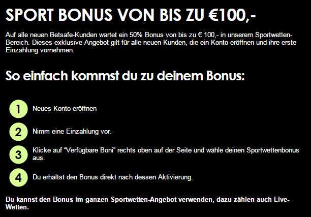 Betsafe Bonus