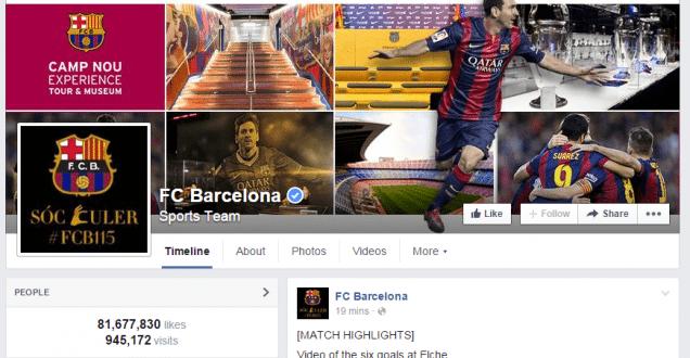 FC Barcelona auf Facebook