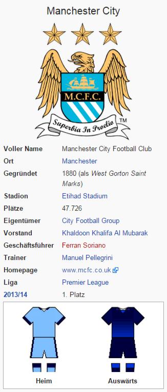 Screenshot von Manchester City  auf Wikipedia