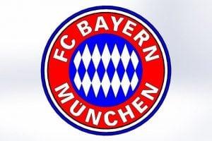 Fußbball Profi Spieler der Bundesliga - bayern münchen logo