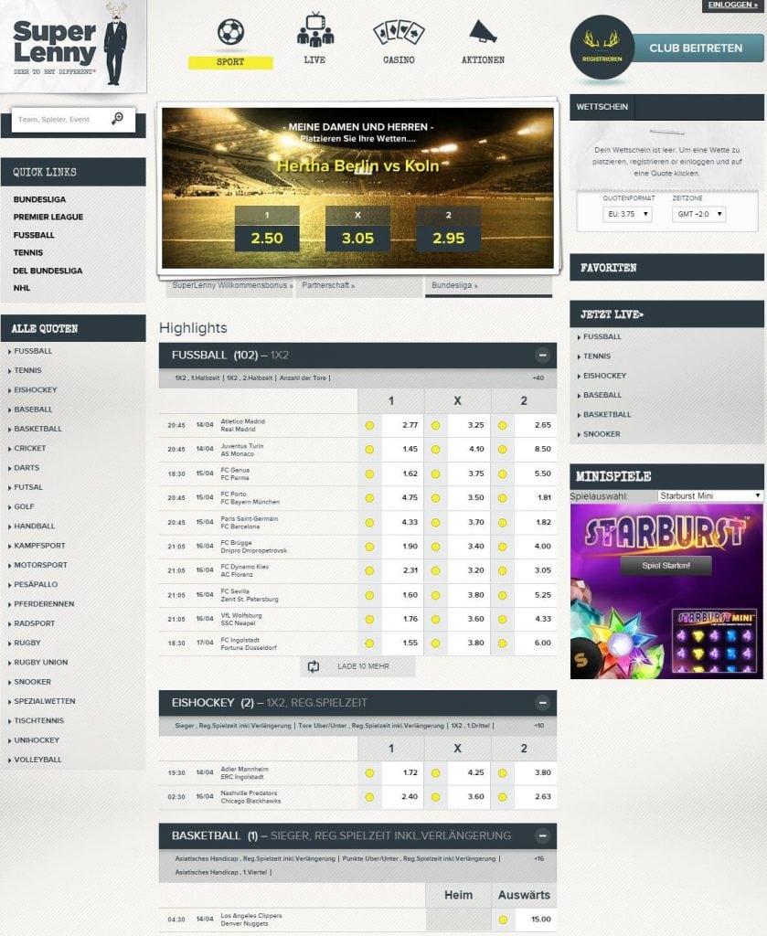 SuperLenny_com - Sportwetten