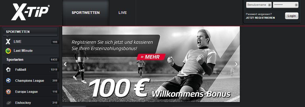 X-TiP I Das Online-Wettbüro für Sportwetten screen