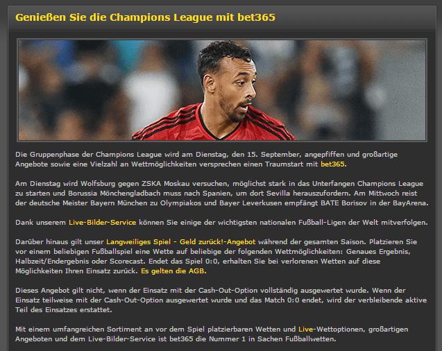 Genießen Sie die Champions League mit bet365