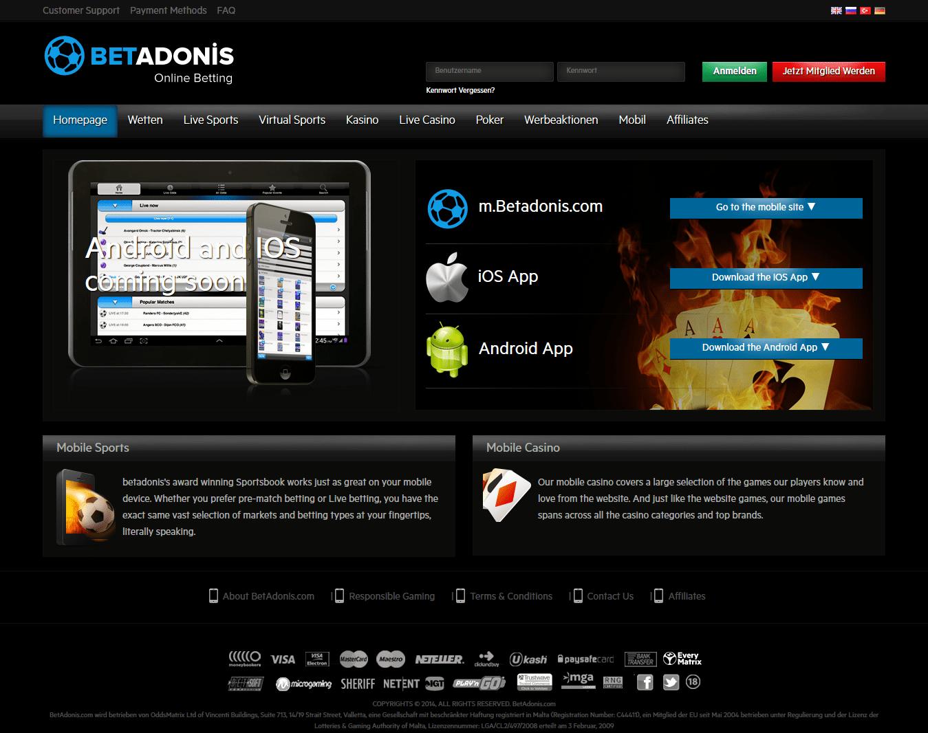 betadonis mobile