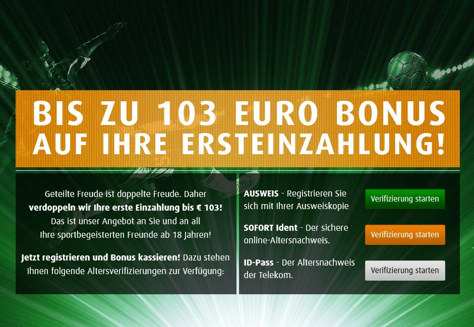 tipp3 103€bonus sportwette