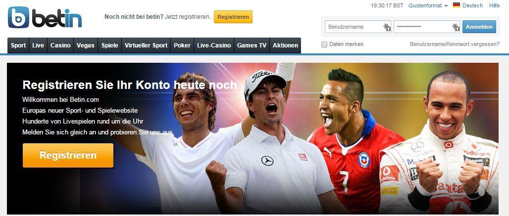 Online-Wetten – Sportwetten für Fußball, Basketball, Tennis andere Sportarten betin