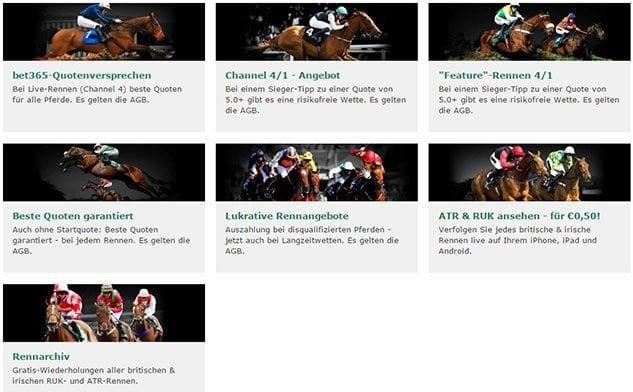 Pferderennen Bet365 Promotion Angebote