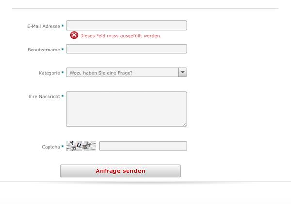 Bisher steht Kunden nur ein Kontaktformular zur Verfügung
