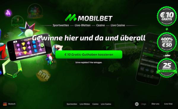 Mobilbet bietet einen Bonus ohne Einzahlung