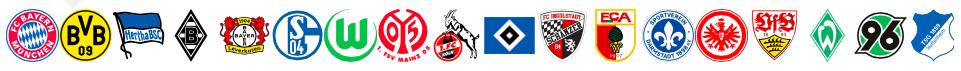 Die 18 Vereine der Bundesliga