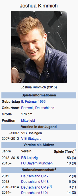 Screenshot Joshua Kimmich / Wikipedia