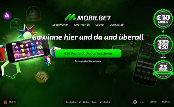 Mobilbet offeriert einen no deposit Bonus von 10€