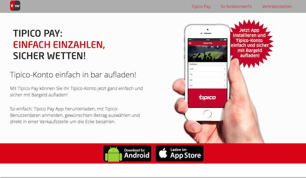 tipico app funktioniert nicht