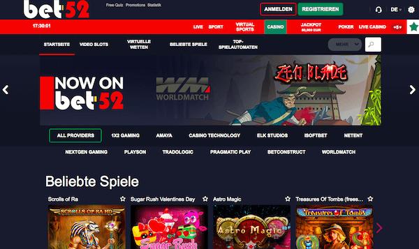 Im Casino gibt es neben den Slots auch einen Live-Dealer-Bereich