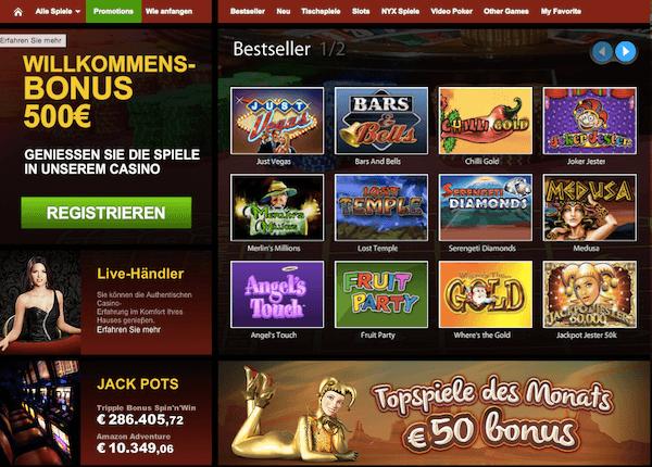 Auch ein Casino- und Poker-Bereich gehören zum Repertoire
