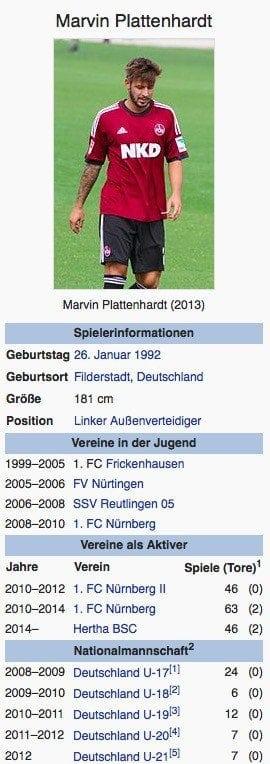 Marvin Plattenhardt / Screenshot Wikipedia