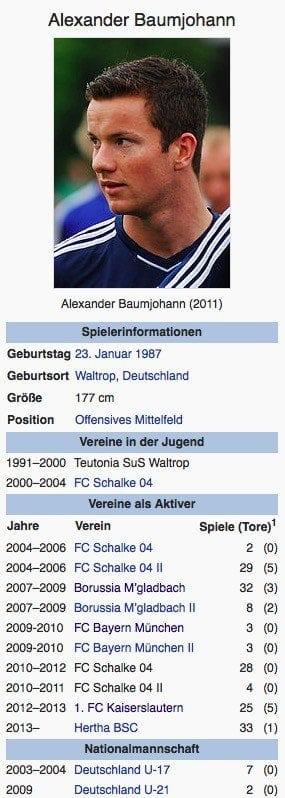 Alexander Baumjohann / Screenshot Wikipedia