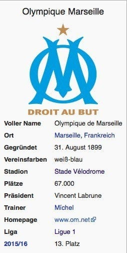 Olympique Marseille / Wikipedia