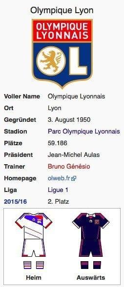 Olympique Lyon / Wikipedia