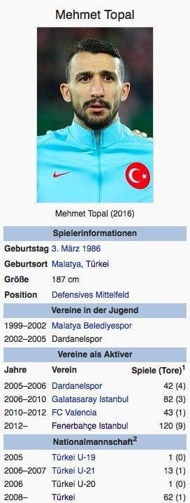Mehmet Topal / Screenshot Wikipedia