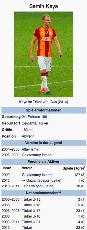 Semih Kaya / Screenshot Wikipedia