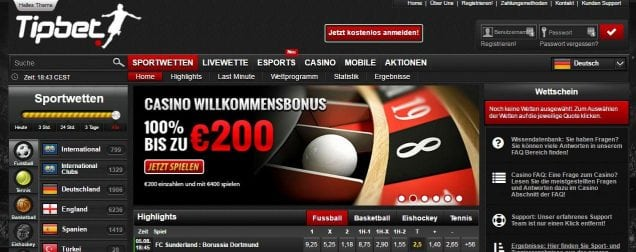 Tipbet - Online Sportwetten & Livewette - Mit Top-Quoten