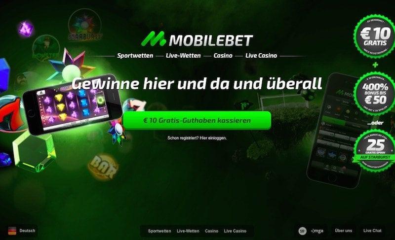 Mobilbet bietet Neukunden einen Wettbonus in Höhe von zehn Euro - ohne Einzahlung natürlich