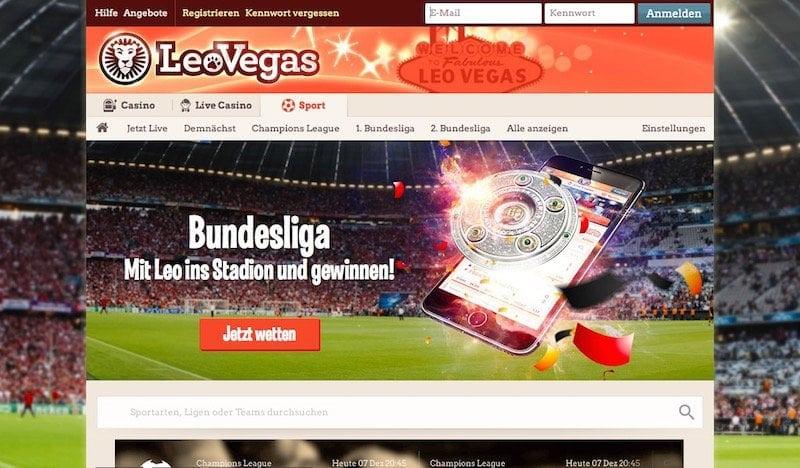Brandneu: Die Sportwetten bei LeoVegas