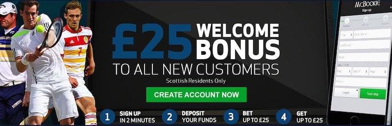 Schade: Der McBookie Bonus ist nur für schottische Kunden