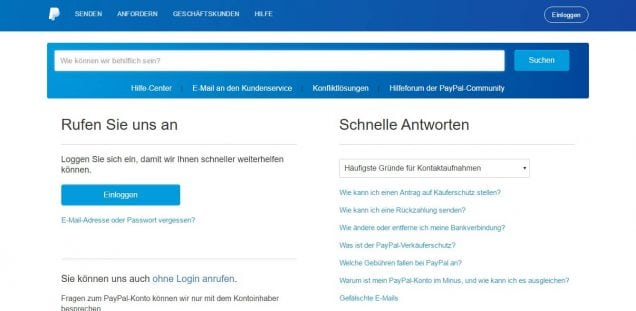Betway PayPal Kundenservice anrufen