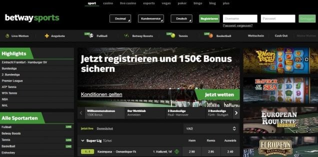 Betway PayPal Offizielle Webseite
