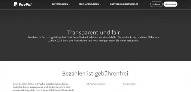 Betway PayPal Transparent und fair