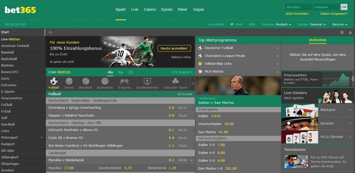 Vice Sports bet365