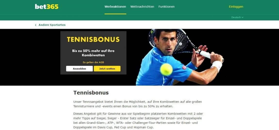 french open 2017 bet365 tennis bonus