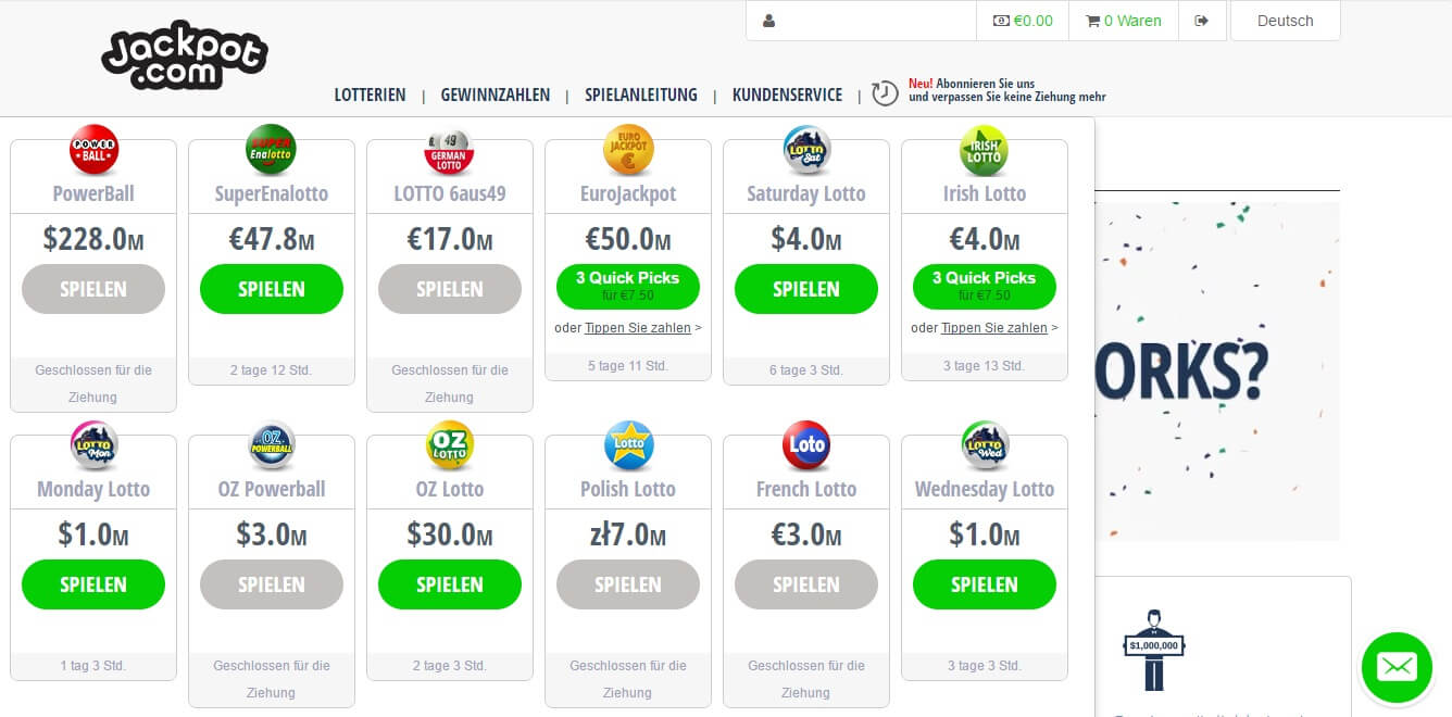 jackpot-com Lotterien