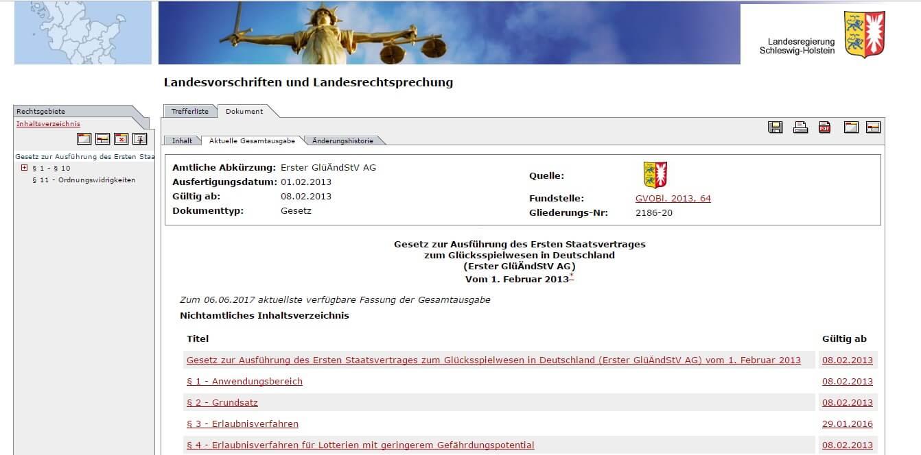 Schleswig-Holstein Offizielle Web Ausführungen