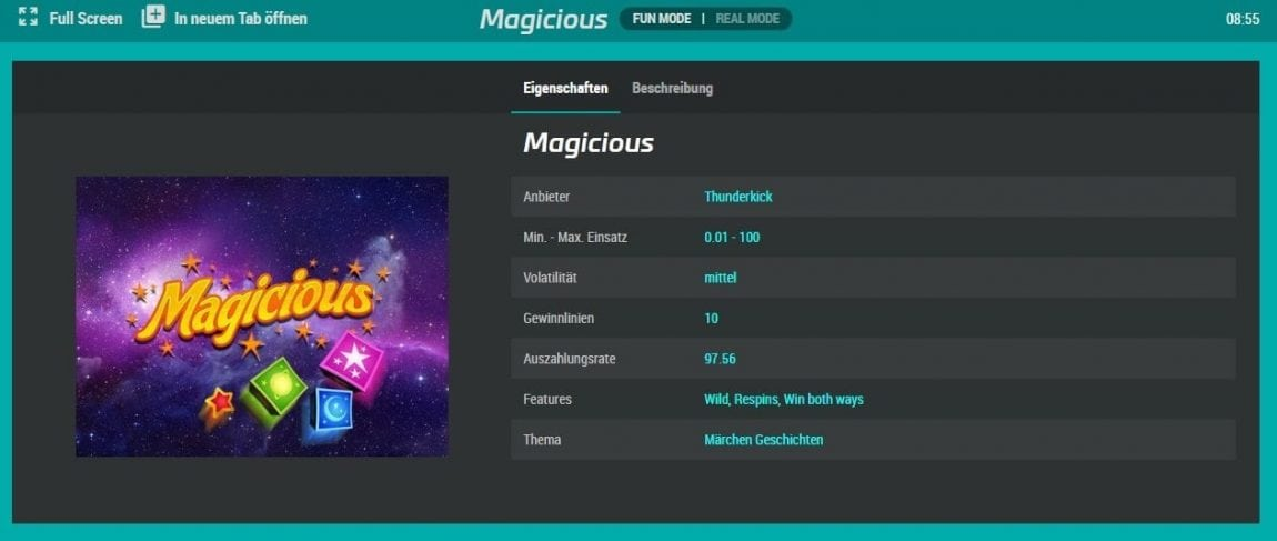 mybet Casino Macisious Spieldetails